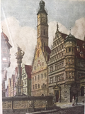 Ernst Geissondorfer Am Marktplatz Germany Framed Prints - a pair