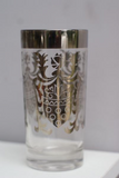 Kimiko Silver Shield Detail Highball Glasses - Set of 7 - FREE SHIPPING!