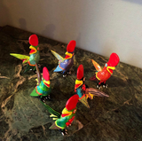 Mexican Rooster Alebrijes- Set of 6 - FREE SHIPPING!