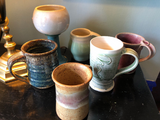 Pottery Mugs and Cups - Collection of 6 - FREE SHIPPING!