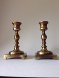 Vintage Brass Candleholders - a Pair - FREE SHIPPING!