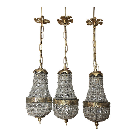 Empire Style Crystal Pendant Lights** - Set of 3 - FREE SHIPPING!