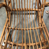 Franco Albini Bamboo Rocking Chair