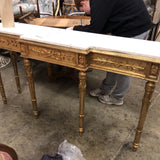 French Gilded Marble Console With Neoclassical Details** - FREE SHIPPING!