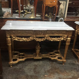Gilded Wood & Marble Rococo Console Table* - FREE SHIPPING!