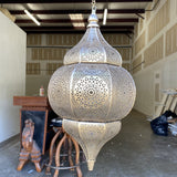 Hand Hammered Metal Moroccan Pendant Light
