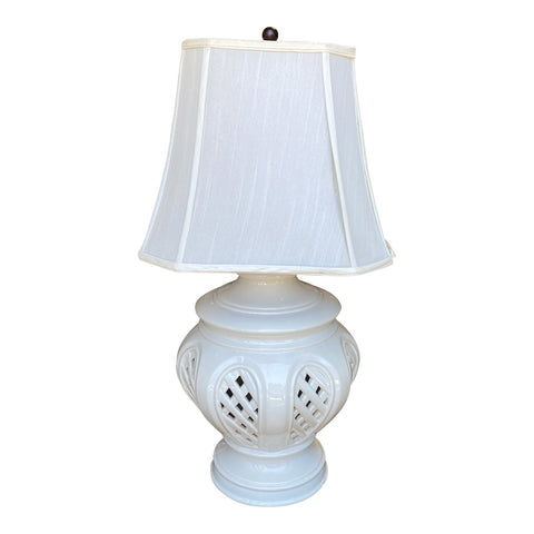 Handmade Blanc De Chine Table Lamp - FREE SHIPPING!