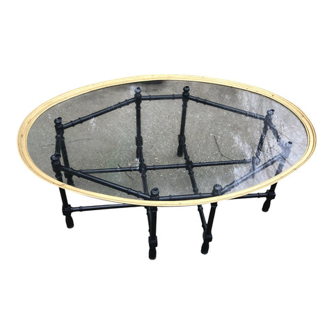 Hollywood Regency Asian Brass Bamboo Table - FREE SHIPPING!