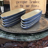 Blue Ceramic Corn Dishes - Set of 8