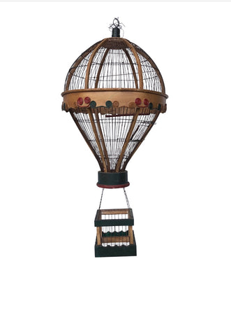 Vintage Hot Air Balloon Bird Cage