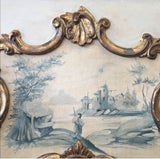 Hand Painted Italian Rococo Gilded Mirror