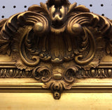 Large Gilded Acanthus Detail Floor Mirror