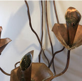 Original Handmade Brutalist Style Copper Scrolling Sconces - a Pair - FREE SHIPPING!
