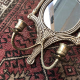 Brass Sconce Candleholders- a Pair