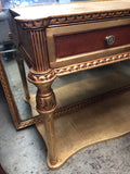 Neoclassical Gold Gilded Console Table With Mirror** - FREE SHIPPING!
