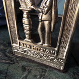 Brass Bar Mitzvah Bookends - a pair