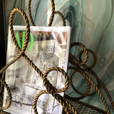 Italian Heavy Rope Gilded Magazine Holder - FREE SHIPPING!