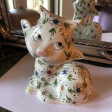 Italian Stamped Kitten Piggy Bank** - FREE SHIPPING!