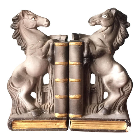 Japanese Equestrian Bookends** - A Pair - FREE SHIPPING!