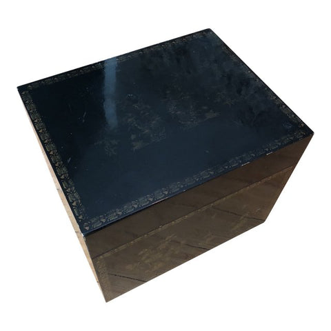 Large Italian Lacquered Wooden Box