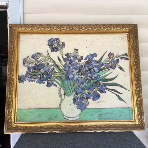 Large Van Gogh Painting in Gilded Frame (Reproduction) - Irises - FREE SHIPPING!