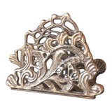 Letter Holder Scrolling Brass Desk Accessory - FREE SHIPPING!