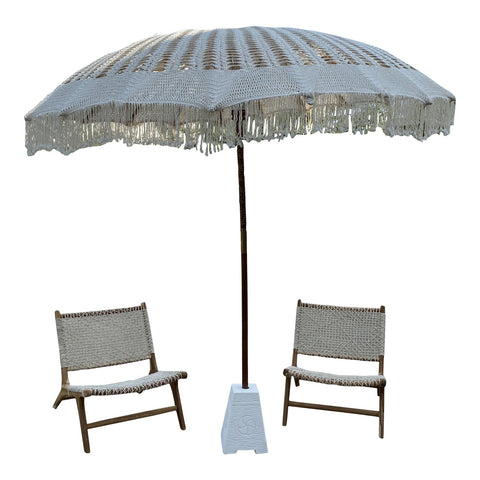 Macrame Umbrella & Chairs - Set of 3 - FREE SHIPPING!