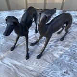Metal Whippet Figurines - a Pair - FREE SHIPPING!
