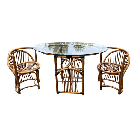 Mid Century Bamboo Dining Set - 3 Pieces** - FREE SHIPPING!