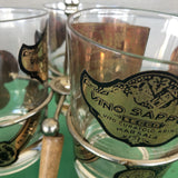 Mid-Century Glasses and Stand** - 4 Pc. Set - FREE SHIPPING!