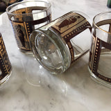 Mid-Century Gold Roaring Twenties Rock Glasses - Set of 4 - FREE SHIPPING!