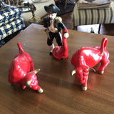 Mid-Century Japanese Bullfighting Collection** - 3 Pc. Set - FREE SHIPPING!