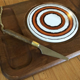 Mid-Century Teak and Glass Covered Cheeseboard - FREE SHIPPING!