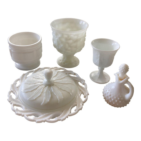 Milkglass Serving Dishes & Vases - Set of 5  FREE SHIPPING!