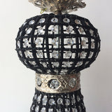 Modern Empire Style Black Beaded Chandelier - FREE SHIPPING!