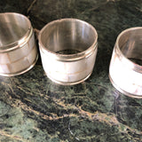Mother of Pearl Napkin Ring Holders - Set of 4 - FREE SHIPPING!