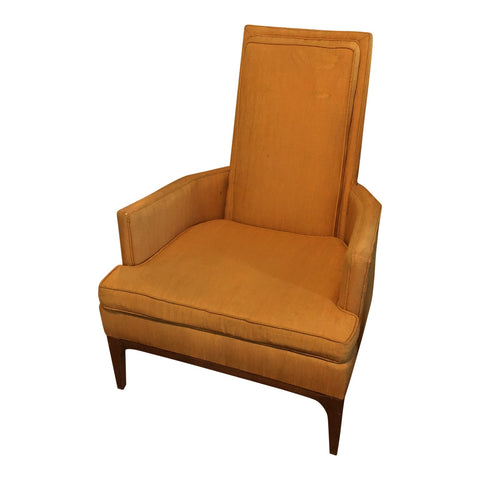 Orange Mid-Century Upholstered Chair  FREE SHIPPING!