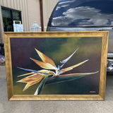 Original Bird of Paradise Painting, Framed** - FREE SHIPPING!
