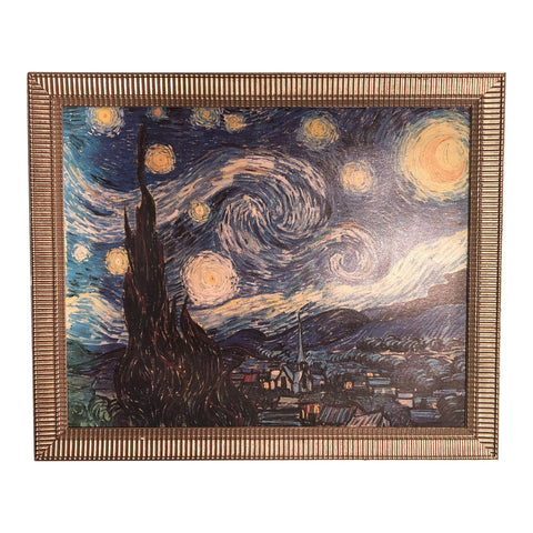 Oversized Framed Starry Night by Van Gogh - FREE SHIPPING!