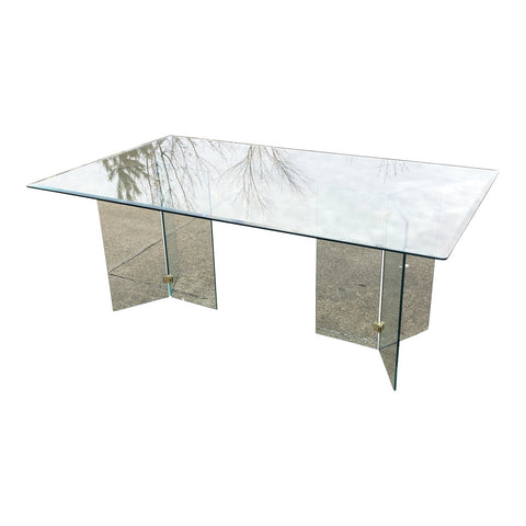 Pace Collection Mid Century Glass Dining Table** - FREE SHIPPING!