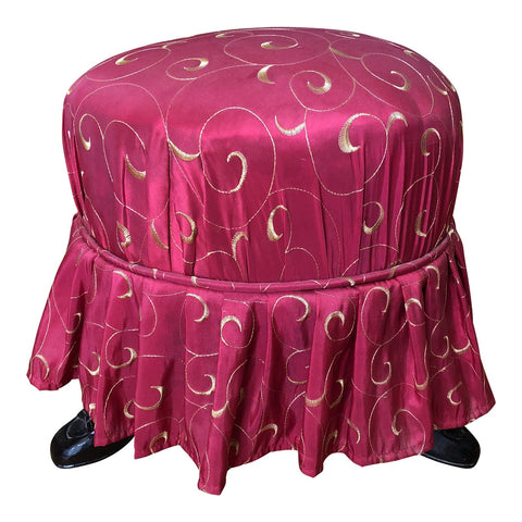 Petite Footed Skirt Stool - FREE SHIPPING!