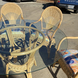 Rattan Fan Back Dining Set - FREE SHIPPING!