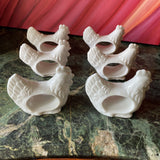 Shafford China White Chicken Napkin Holders - Set of 6 - FREE SHIPPING!