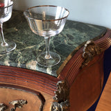 Silver Rimmed Vintage Glasses - Set of 7 - FREE SHIPPING!