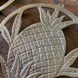 Southern Pineapple Brass Trivet Coasters - a Pair - FREE SHIPPING!
