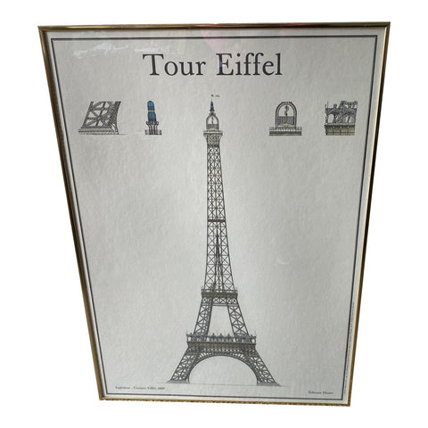 Tour Eiffel Framed Print - FREE SHIPPING!
