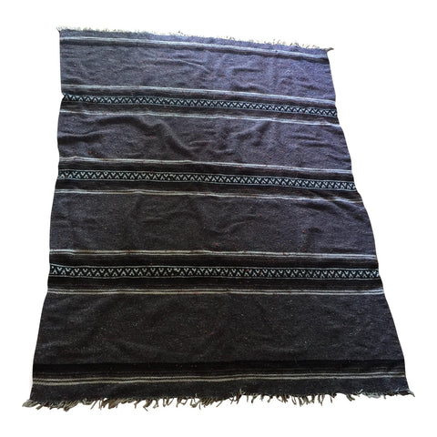 Tribal Gray Woven Wool Rug - FREE SHIPPING!