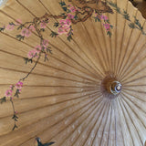 Vintage Asian Paper Umbrellas - a Pair - FREE SHIPPING!