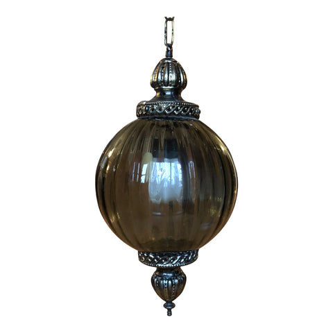 Vintage Gilded Pendant Glass Chandelier** - FREE SHIPPING!