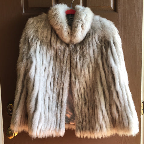 Vintage Norway Fox Coat Size Large - FREE SHIPPING!
